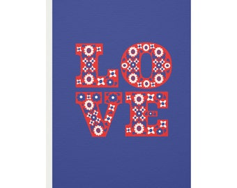 Floral Love Greetings Card