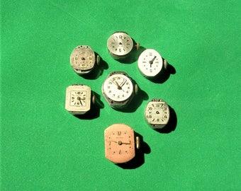Antique Vintage Watch Parts Watch Movements Destash Lot Steampunk Gears Old Watch Parts