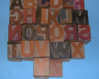Antique Vintage Letterpress Printers Block Letters Vintage Letters 2 1/2 Inches Tall Letterpress Letters