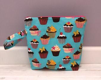 Wet Bag- Swimsuit Bag- Cloth Diaper Bag- Cupcakes
