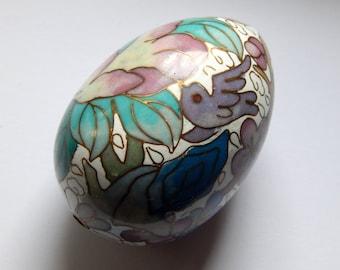 Pastel Colored Cloisonne Egg