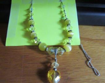 Sunny yellow beaded chain