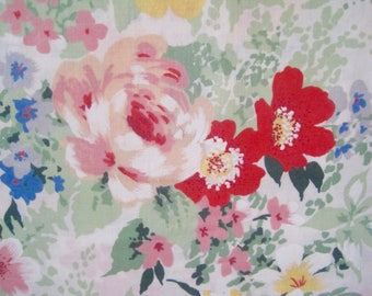 Vintage Cotton Floral Fabric, French Textile, French Florals, Dress Fabric, Fabric & Notions, Dress Making Materiel, Sewing Project,  Fabric