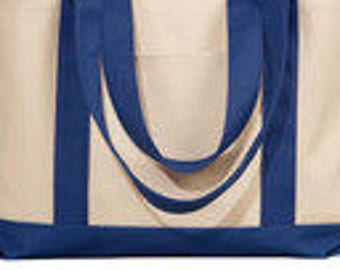 Sale Heavy cotton canvas Tote Bag  Great for Crafts      18 x 12  Check colors available in Listing