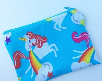 Unicorns Snack Bag - Snack Bag - Kids Snack Bag - Lunch Pouch -  Snack Sack - Lunch Sack - Zippered Snack Bag - Unicorns