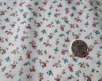 2 yds vintage small rose cotton fabric 42 inches wide