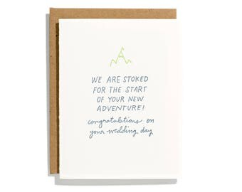 Stoked For New Adventure - Letterpress Congratulations Card - CC228