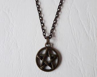 Bronze wicca pagan ♥ ♥ Pentacle pendant