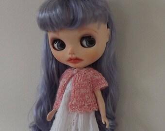 BLYTHE CARDIGAN/BOLERO, Blythe outfit, Blythe clothes, Blythe knitted top/Blythe top, Blythe pink top