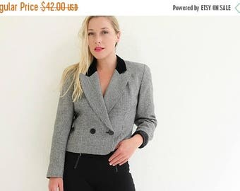 ON SALE 1980s Equestrian Blazer /// Extra Small to Small