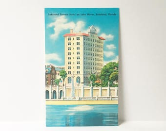 Florida Postcard 1960s Sunshine state Souvenir Collectible Postcard Lakeland unused Postcard