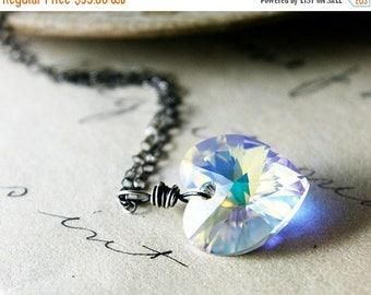 Summer Sale Crystal Heart Pendant, Crystal Heart Necklace, Crystal Heart, Crystal Necklace, Crystal Pendant, Swarovski Crystal, Swarovski He