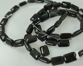 25 Green and Black Agate 14mm beads