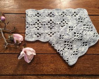 PDF pattern crochet Pegasus infinity scarf.