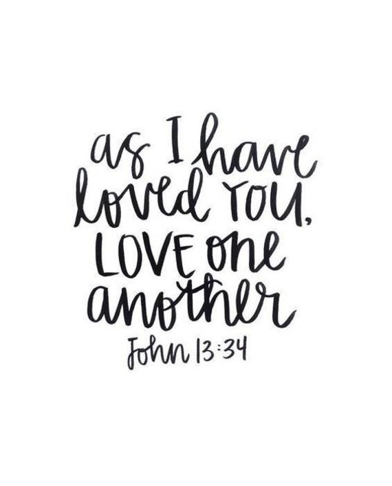 Love One Another Bible Verse Vinyl Car Decal Bumper Window - Bible verse custom vinyl decals for car