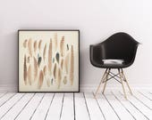 Feather Print, Nature Art, Feather Wall Art - Found Feathers