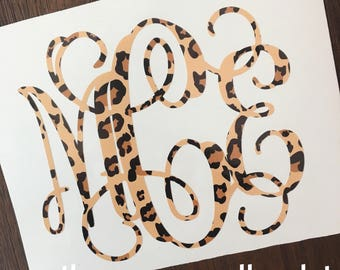 Leopard Print Cheetah Monogram Decal
