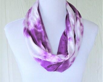 Tie Dye Infinity Scarf, Purple Tie Dye, Necklace Scarf, Women's Scarves, Eclectasie