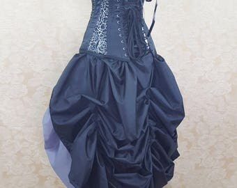 SALE Black Full Length Tie Bustle Skirt-One Size Fits All