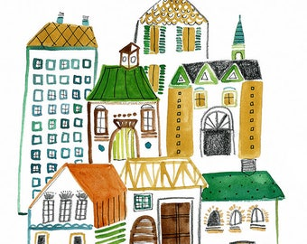 Pretty Village Archival Print