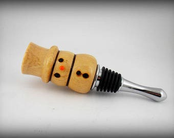 Snowman, handmade bottle-stopper