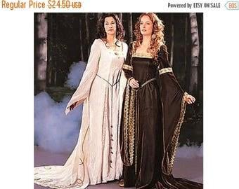 on SALE 25% Off Butterick Historical Medieval Renaissance Dress Pattern Dress, Cape Costume Sewing Pattern Adult size 12 14 16 UNCUT