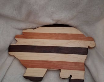 Wooden,cherry, maple, walnut,  pig shaped cutting board