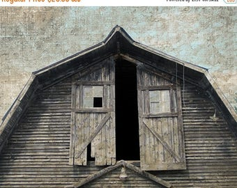 CIJ SALE Barn Doors Photo, Barn Loft Print, Rustic Country Barn, Rural Landscape, Vintage Barn Photo, Country Farm Decor, Rustic Wall Decor,