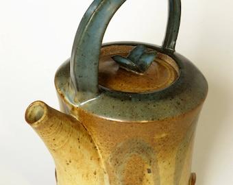 Contemporary stoneware teapot, medium sized
