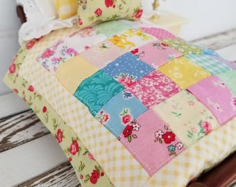 """Miniature Doll Quilt only - 7"""" x 8"""""""