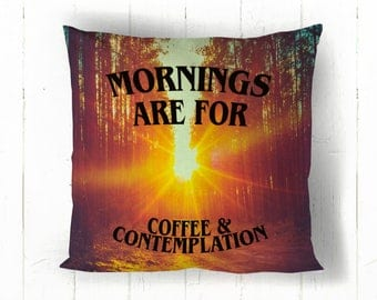 Mornings are for Coffee & Contemplation ? 2 Sided Throw Pillow - Stranger Things Inspired