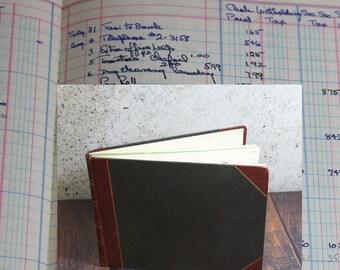 Vintage LEDGER BOOK- Full of Handwriting- 1950's- Business Record Keeping Log- Ledger Pages- Disbursement Book- Columnar Book