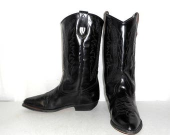 Womens Size 7 Seychelles Western Fashion Cowboy Boots Black Distressed Indie