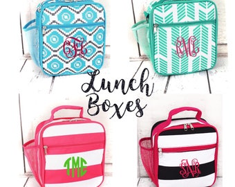GIRLS personalized lunch box , Back To School , kids  box,  monogrammed lunch box  , girls lunch box