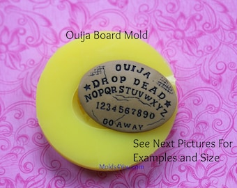 Ouija Board Cabochon Mold Oval Chocolate Clay Fondant Resin Polymer Clay ouija board Silicone Mold