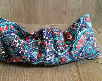 Aromatherapy Eye Pillow Flax Organic Lavender Mint Yoga Savasana Removable Cover Blue Red Black Relaxation Soothing Microwave Compress
