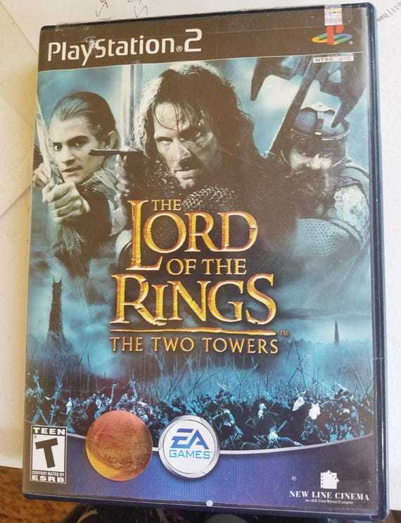 lord of the rings the two towers ps2 video game PlayStation 2 fantasy games
