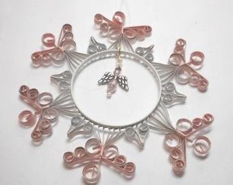 Pink Angel Sun Catcher - Quilled Aluminum Can