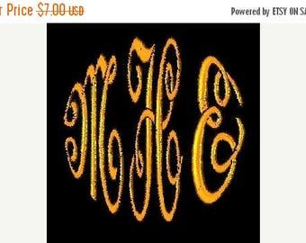 SALE 65% OFF Circle Script 3 Letter Machine Embroidery Monogram Fonts Designs Instant Download Sale