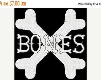 SALE 65% OFF Bones Halloween Machine Embroidery Alphabet Monogram Fonts Designs Instant Download Sale
