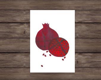 Cut-Paper Pomegranates print