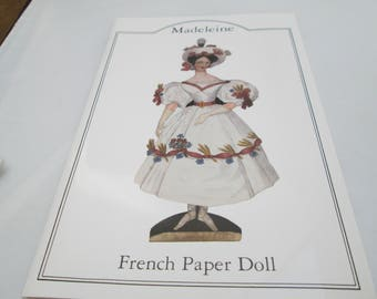 a  Vintage french paper doll