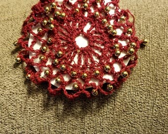 Burgundy with gold bun cover.  SCA.  Wedding.  Prom.   Civil war.  Ready to ship