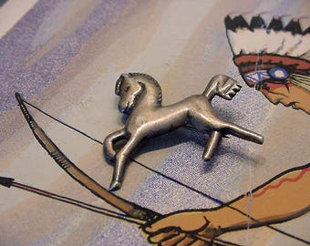 Vintage Mexico Sterling Horse Pin Brooch Lapel Pin 14t345