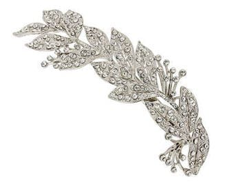 Grecian wedding headpiece crystal leaf hair clip headpiece wedding hair accessories Grecian bridal hair clip