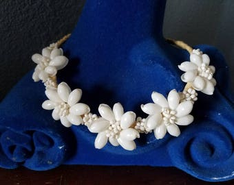 Seashell Flower Necklace or Crown