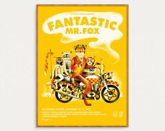 Fantastic Mr. Fox Poster - 18x24 Screen print