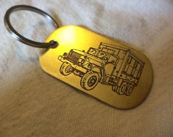 M109A3 Shop Van Etched Brass Keychain