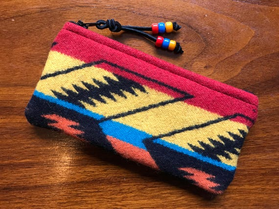 Wool Glasses  Case / Tampon Case / Zippered Pouch Scarlett Arrowpath