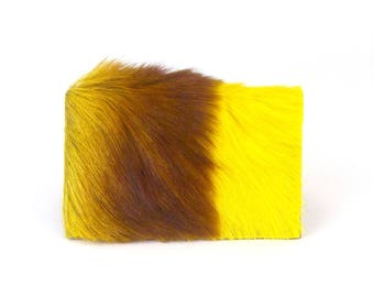 Yellow Fur Wallet